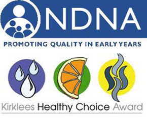national day nursery association and kirklees healthy choice gold award